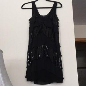 A/X black sequined dress sz 4